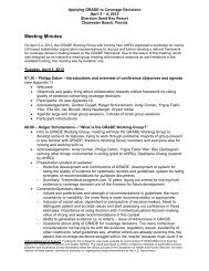Meeting Minutes - GRADE working group