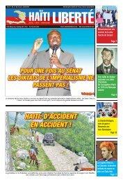 HAITI: D'ACCIDENT EN ACCIDENT ! - Haiti Liberte