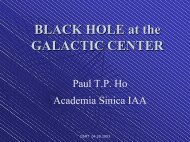 BLACK HOLE at the GALACTIC CENTER