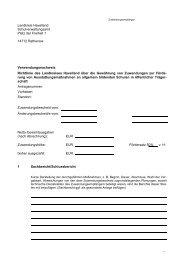 Verwendungsnachweis - Entwurf - Landkreis Havelland