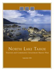 Tourism and Community Investment Master Plan - North Lake Tahoe