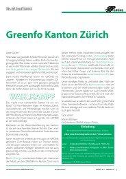 Greenfo Kanton Zürich - Grüne Kanton Zürich