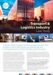Transport & Logistics Industry - GS1 Australia