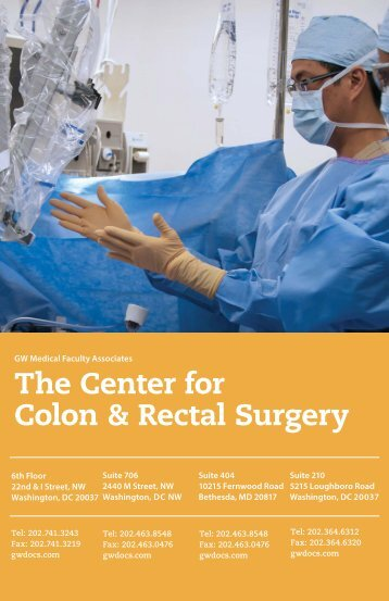 The Center for Colon & Rectal Surgery - GW Medical Faculty ...