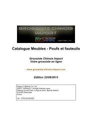 Catalogue Meubles - Poufs et fauteuils - Grossiste chinois import