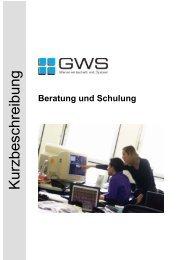 Kurzbeschreibung - GWS mbH