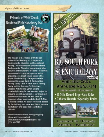 Big south fork Scenic railway - Lake Cumberland, Kentucky ...