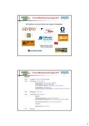 Forum Markiertechnologie 2011 Forum Markiertechnologie 2011 - Grün ...