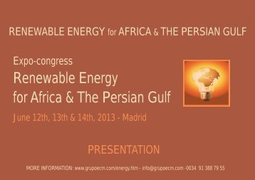 Renewable Energy for Africa & The Persian Gulf - Ecm European ...