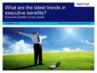 What are the latest trends in executive benefits? - Hay Group