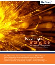 Touching the intangible - Hay Group