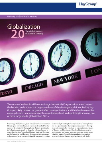 a PDF summary of the globalization 2.0 megatrend - Hay Group