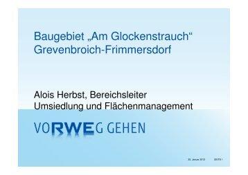 """Baugebiet """"Am Glockenstrauch"""" Grevenbroich-Frimmersdorf"""