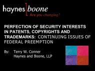 Download a PDF of the Powerpoint presentation - Haynes and ...
