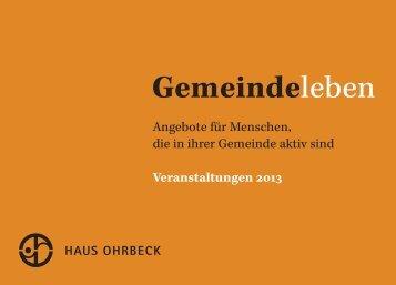 Gemeindeleben 2013. - Haus Ohrbeck