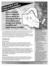 Fact Sheet - Hanford Site