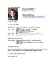 Dr. Dimitris Liakopoulos Institute of Biochemistry (BZH ... - HBIGS