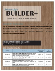 mississippi builder magazine - Home Builders Association of ...