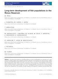 Long-term development of fish populations in the Římov Reservoir