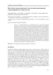 Diet of larvae and juvenile perch, Perca fluviatilis performing diel ...