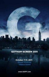 October 7-17, 2011 Quad Cinema Tribeca Grand - Gotham Screen ...
