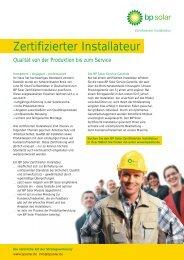 Zertifizierter Installateur
