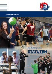 Download Statuten - HC Kriens-Luzern