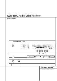 AVR 4500Audio/VideoReceiver - Hci-services.com