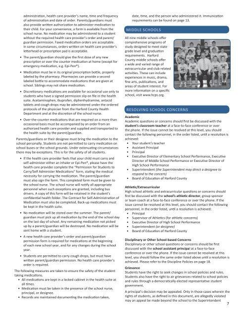 Student Handbook - Harford County Public Schools