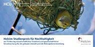 Holcim Studienpreis für Nachhaltigkeit - HafenCity Universität ...