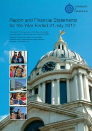 Report and Financial Statements for the Year Ended 31 July 2012