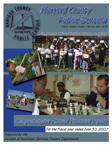 Annual Financial Report Cover 2007-08.indd - Harford County ...