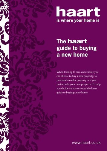 The guide to buying a new home - Haart
