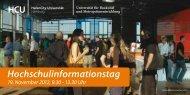 Hochschulinformationstag - HafenCity Universität Hamburg