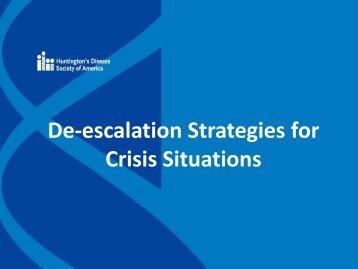 De-escalation Strategies for Crisis Situations