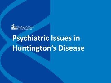 Psychiatric Issues in Huntington's Disease