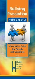 Bullying Prevention - Information GUIDE for Parents and Guardians