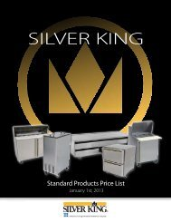 2013 Price List - Silver King