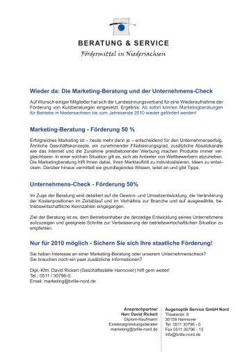 BERATUNG & SERVICE - Augenoptiker-Innung Hannover