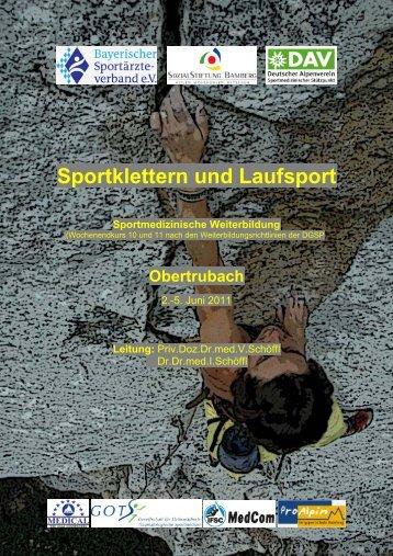 Sportklettern und Laufsport Sportmedizinische ... - (GOTS).
