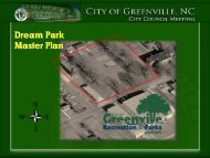 Dream Park Master Plan - City of Greenville