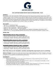 2011 GOTHAM SCREEN ENTRY RULES & REGULATIONS - FILM ...