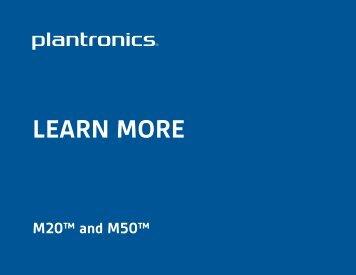 Plantronics M20 user manual - Headset Plus.com