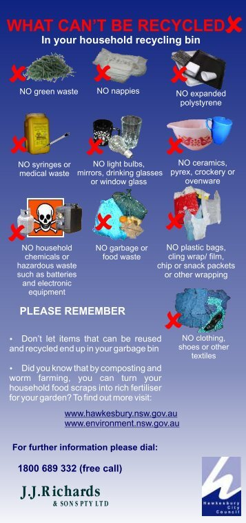 FINAL - Recycling Information flyer