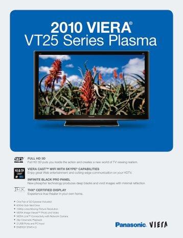 2010 VIERA® VT25 Series Plasma
