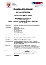 Hessentag 2013 in Kassel AUSSCHREIBUNG - Hessischer ...