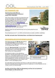 Informationen der ÖGL – Juni 2009 - OGL