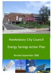 Energy Savings Action Plan - 2008 - Hawkesbury City Council ...
