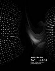 AVR 2600 OM.qxd - Harman Kardon