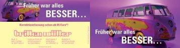 Früher war alles BESSER… - Brillen Müller